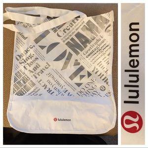 Lululemon Reusable bag with snap